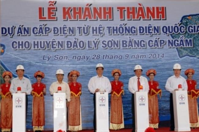 Khánh thành dự án cấp điện cho huyện đảo Lý Sơn
