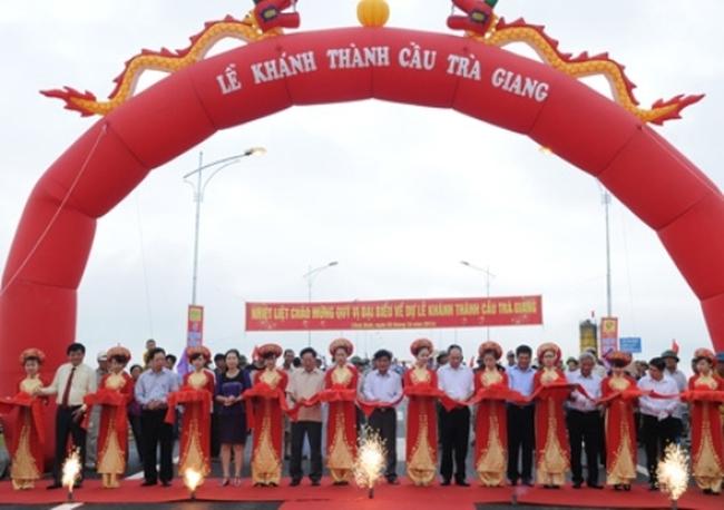 Thái Bình: Khánh thành cầu Trà Giang và khởi công cầu vượt sông Trà Lý