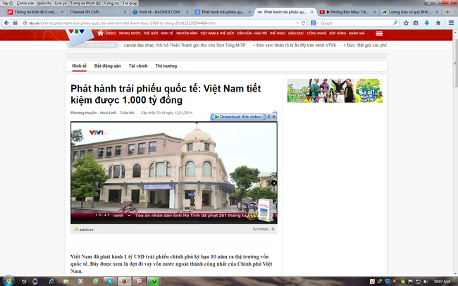 Phát hành trái phiếu quốc tế: Việt Nam tiết kiệm được 1.000 tỷ đồng
