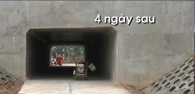 Hầm chui dân sinh dự án Nhật Tân - Nội bài thi công 4 ngày thay vì… 10 tháng