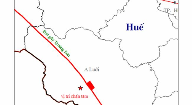Thừa Thiên-Huế: Lại xảy ra động đất 3,3 độ Richter tại A Lưới