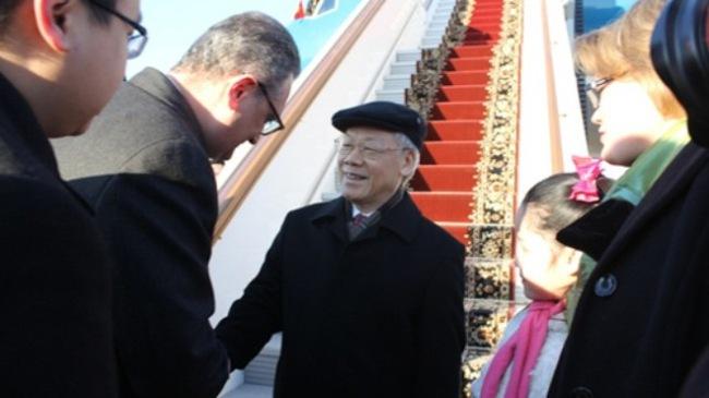 Tổng Bí thư đã đến Moscow bắt đầu thăm chính thức Liên bang Nga