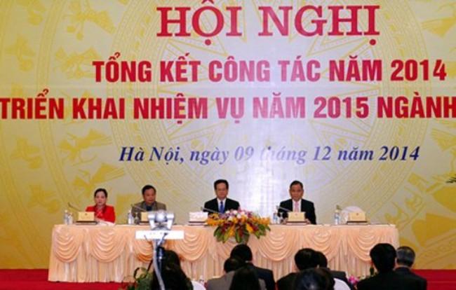 Thủ tướng dự Hội nghị triển khai nhiệm vụ 2015 ngành Nội vụ