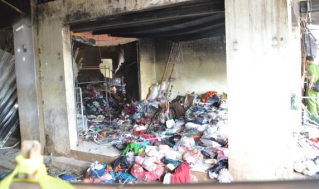 Chợ Bình Đại cháy, thiệt hại hàng tỷ đồng
