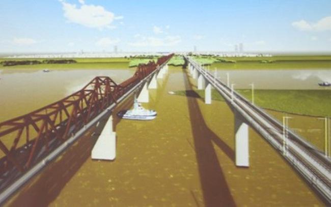 Cân nhắc phương án xây cầu đường sắt cách cầu Long Biên 75m