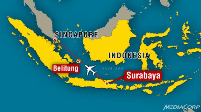 Indonesia: Chiếc máy bay AirAsia mất tích có thể rơi xuống biển