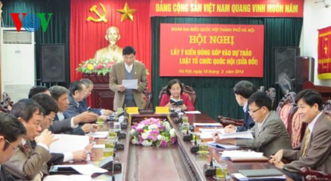 Đóng góp ý kiến cho Dự thảo Luật Tổ chức Quốc hội (sửa đổi)
