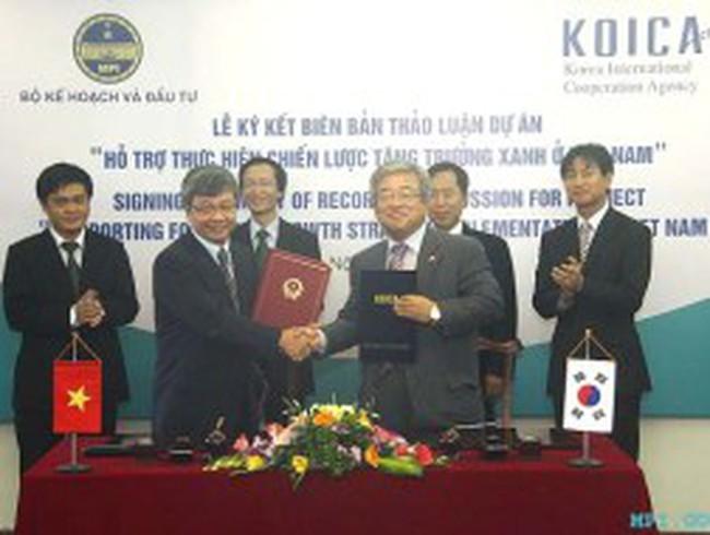 KOICA hỗ trợ 2 triệu USD cho Việt Nam tăng trưởng xanh