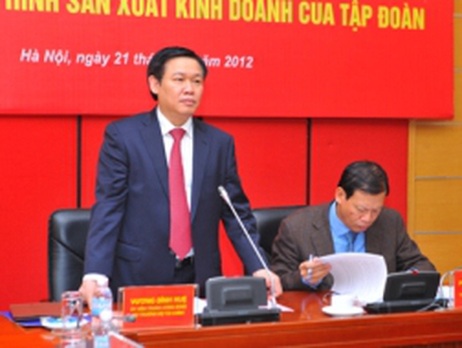 Bộ trưởng Vương Đình Huệ làm việc với Tập đoàn Dầu khí Việt Nam