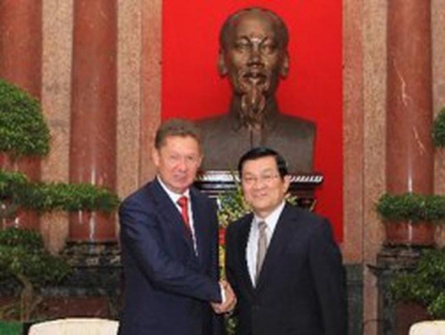 Chủ tịch nước tiếp Chủ tịch điều hành Tập đoàn Gazprom