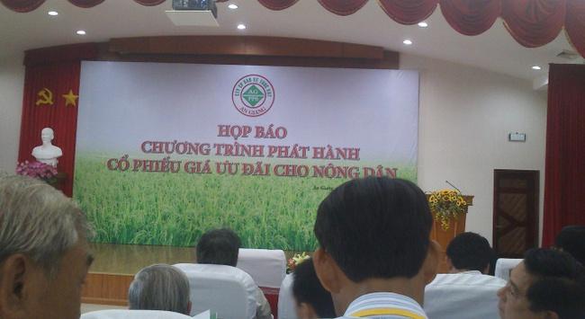 Bảo vệ Thực vật An Giang phát hành cổ phiếu ưu đãi cho nông dân giá 30.000 đồng/CP