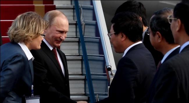 Những hình ảnh đón tiếp Tổng thống Nga V.Putin đến thăm Việt Nam