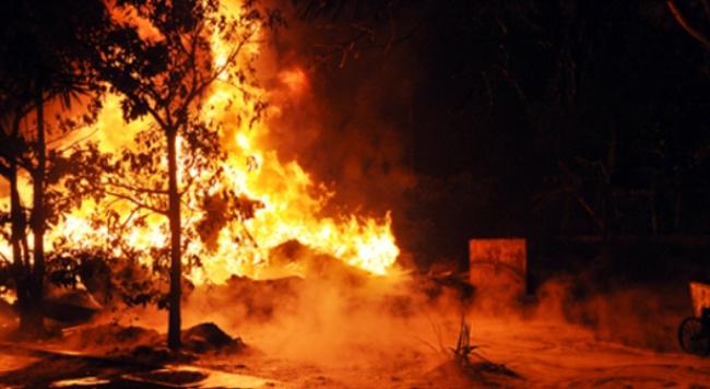 Cháy lớn tại Nhà máy tuyển than Hòn Gai