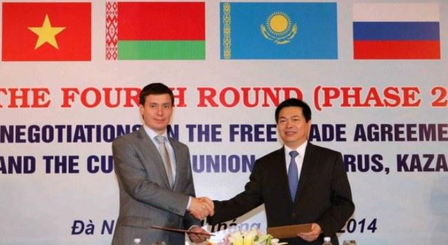 Kết thúc đàm phán lần 4 FTA Việt Nam-Liên minh hải quan