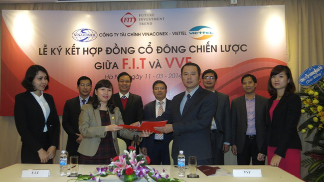 F.I.T và Tài chính Vinaconex - Viettel ký Hợp đồng cổ đông chiến lược