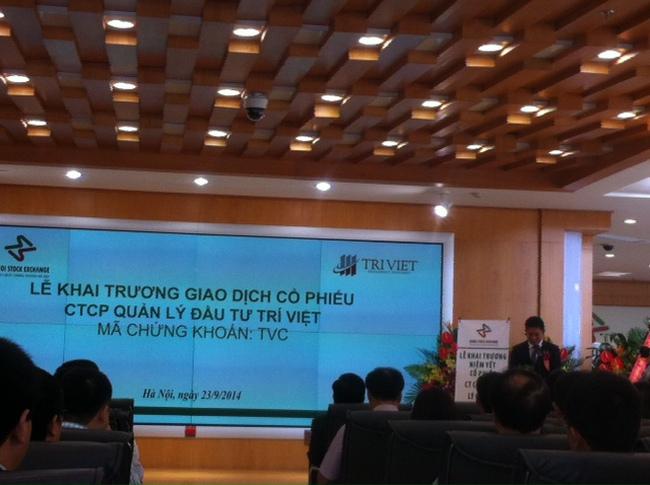 Công ty quản lý đầu tư Trí Việt chính thức niêm yết cổ phiếu