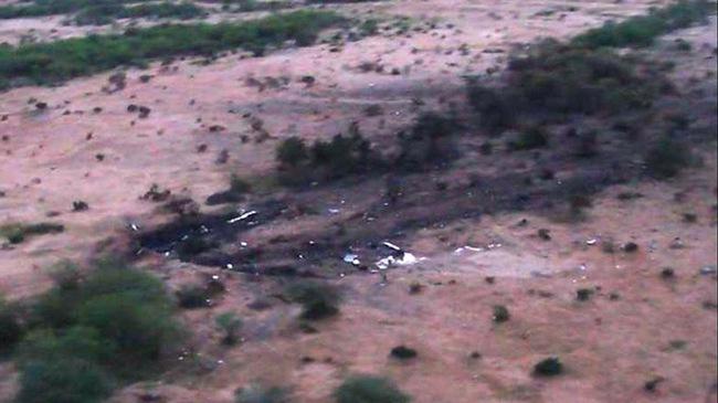 Hiện trường máy bay Algeria cháy đen, vỡ tan khi rơi xuống đất
