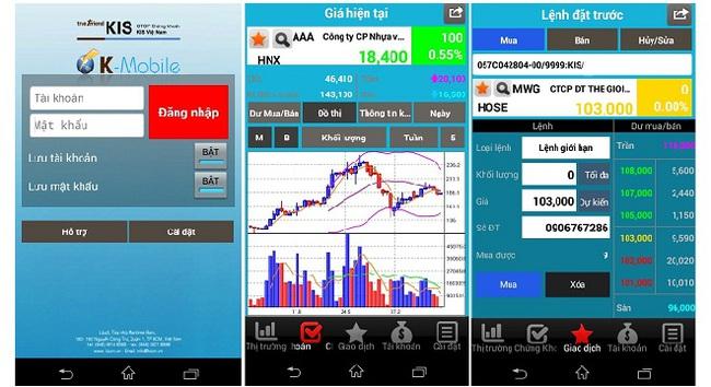 Công ty chứng khoán KIS ra mắt phần mềm GDTT K-Mobile trên nền tảng Android