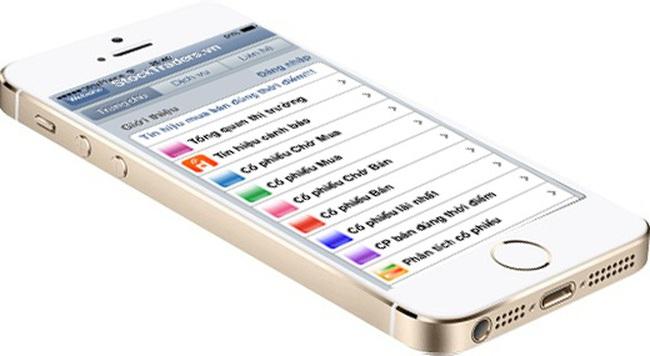 StockTraders - Tín hiệu cảnh báo qua điện thoại