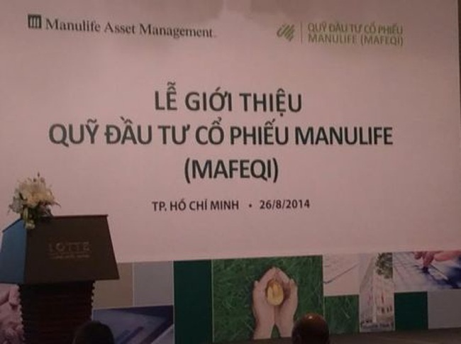 Manulife Asset Management Việt Nam giới thiệu Quỹ tương hỗ dạng mở đầu tiên