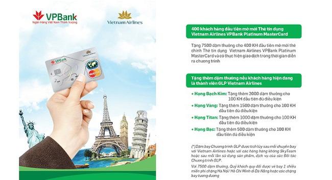 Mở thẻ tín dụng VPBank nhận ngay 7.500 dặm bay