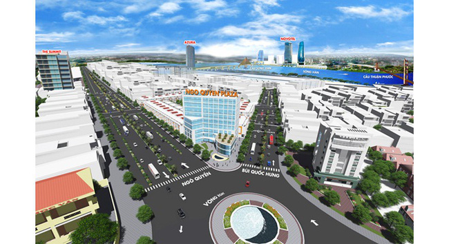 Dự án Ngo Quyen Trade Center ven biển Đà Nẵng giá từ 7,5 triệu/m2