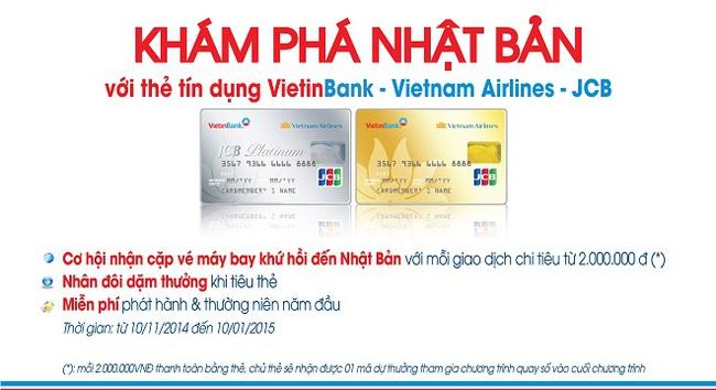 VietinBank tặng vé khứ hồi Nhật Bản cho khách hàng sử dụng thẻ