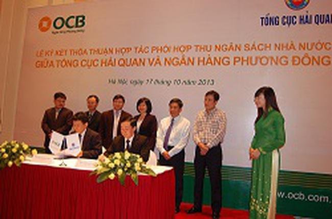 Lễ ký kết thỏa thuận phối hợp thu NSNN, bảo lãnh thuế giữa OCB và Tổng cục Hải quan