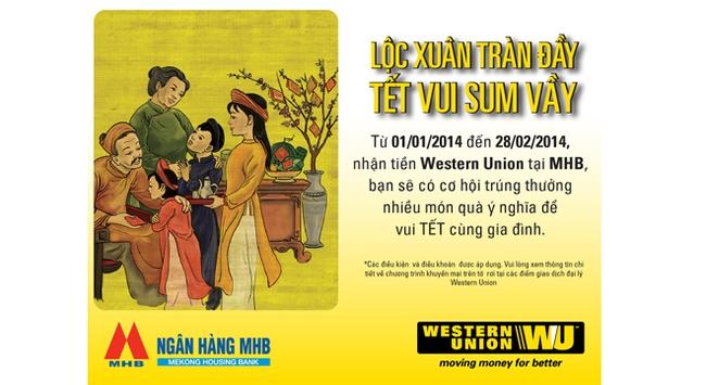 Khuyến mãi lớn khi nhận tiền kiều hối Western Union tại MHB