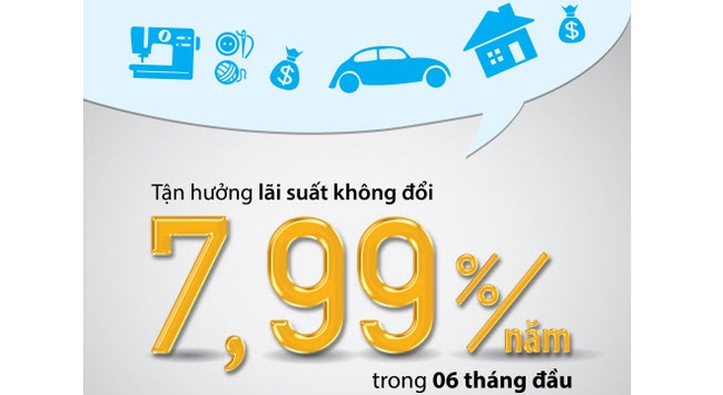 VIB cho cá nhân vay với lãi suất ưu đãi từ 7,99%/ năm