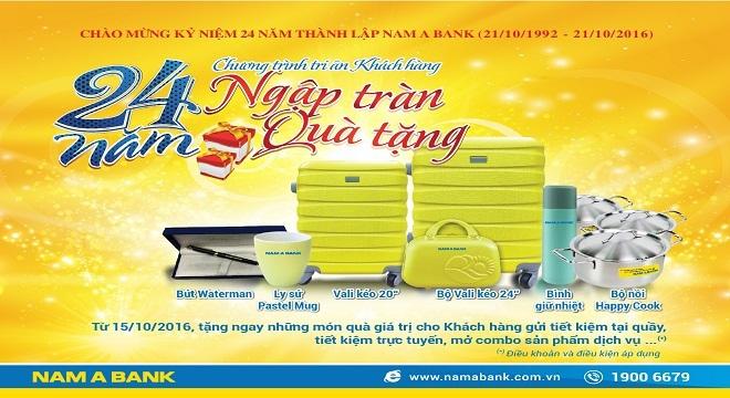 """""""Mưa"""" quà tặng nhân kỷ niệm 24 năm thành lập Nam A Bank"""