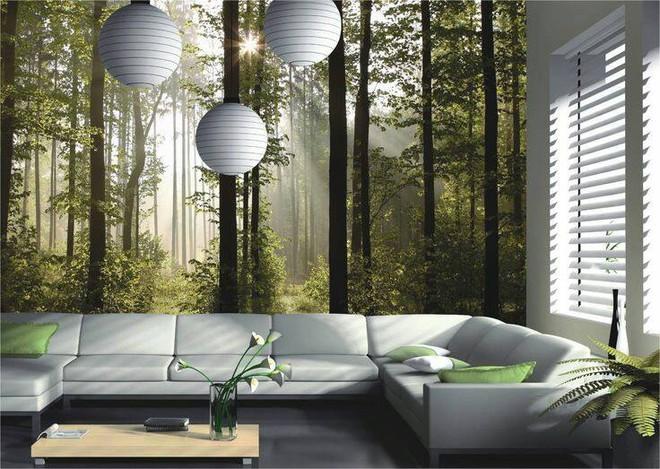 Đã mắt với những bức tường tranh tạo cảm giác trong lành cho nhà nhỏ