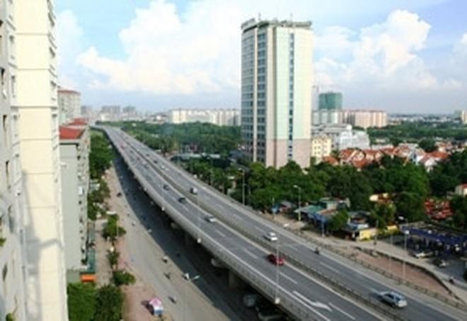Xây đường bộ trên cao từ cầu Vĩnh Tuy đến Ngã Tư Sở