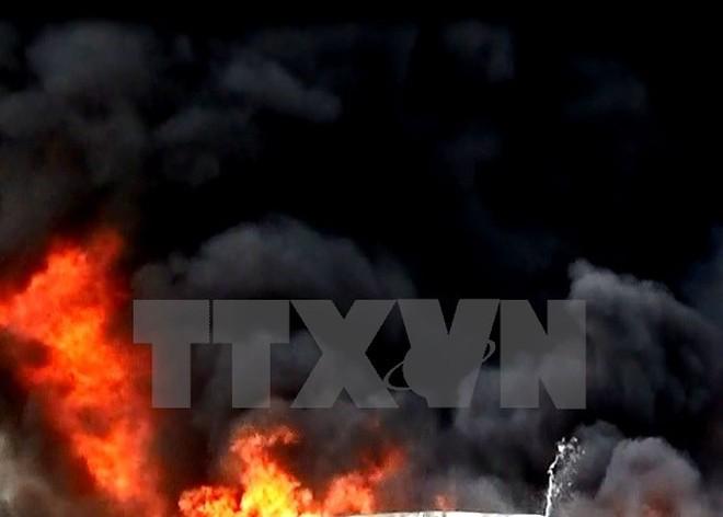 Thanh Hóa: Cháy lớn trong Khu công nghiệp Tây Bắc Ga