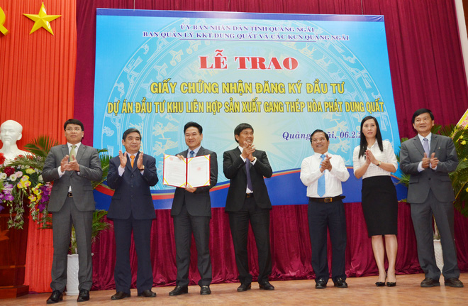 Hòa Phát lập công ty vốn 10 nghìn tỷ đầu tư dự án 3 tỷ đô ở Dung Quất