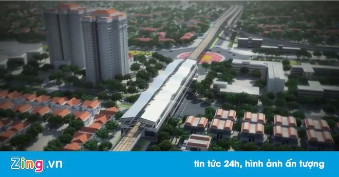 Mô phỏng 3D tuyến metro chạy qua 5 quận ở Hà Nội