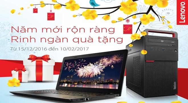 Khuyến mãi tưng bừng khi mua máy tính Lenovo dịp năm mới