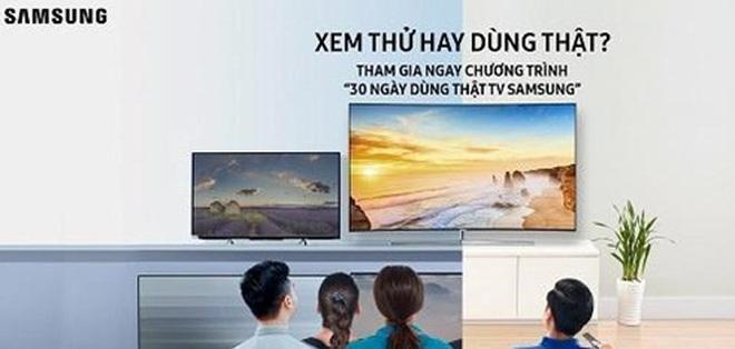 """Samsung vừa công bố chương trình """"30 ngày dùng thật TV Samsung"""", điều chưa có tiền lệ tại Việt Nam"""