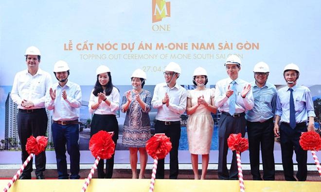 Dự án khu dân cư M-One Nam Sài Gòn cất nóc đúng tiến độ, giữ vững niềm tin với khách hàng
