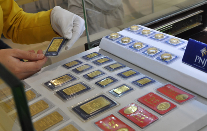 Giá vàng lình xình quanh ngưỡng 36,5 triệu đồng/lượng