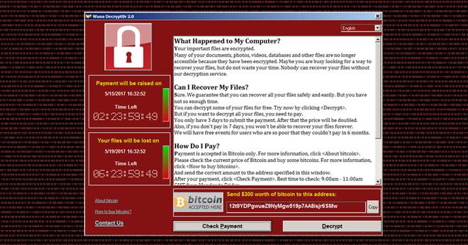 Bộ Công Thương khẩn cấp cảnh báo mã độc Wannacry