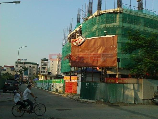 Chùm ảnh tiến độ thi công một số dự án khu vực Cầu Giấy