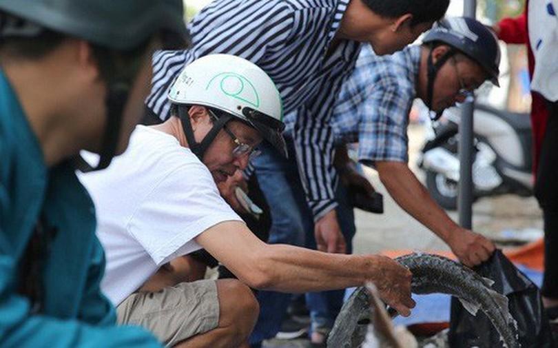 Người dân TP HCM chen nhau mua cá tầm bị ngộp nước - ảnh 1
