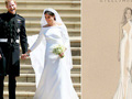 Trông thì tối giản nhưng 2 mẫu váy cưới của Meghan Markle trị giá tới hơn 8 tỷ đồng