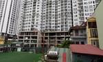 Hàng loạt nhà dân lún, nứt gần chung cư vừa xây ở Hà Nội