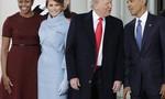 """Đây chính là ánh mắt """"gây bão"""" của bà Obama khi nhận được quà từ tay vợ Tổng thống Trump"""