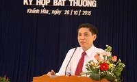 Ông Lê Đức Vinh được bầu giữ chức Chủ tịch UBND tỉnh Khánh Hòa