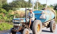 Nước nhiễm mặn bao vây xứ dừa Bến Tre