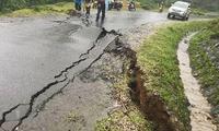 Sụt lún nghiêm trọng trên tuyến Quốc lộ 24 qua Kon Tum