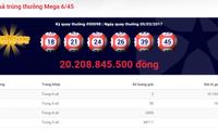 Vé xổ số Vietlott trúng 20,2 tỷ đồng bán ở Đồng Nai và Quảng Ninh